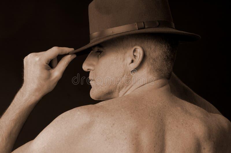 Mâle avec le chapeau photographie stock
