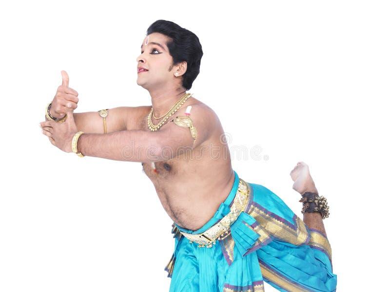 mâle classique de danseur de l'Asie images libres de droits