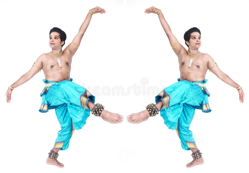 mâle classique de danseur de l'Asie image libre de droits