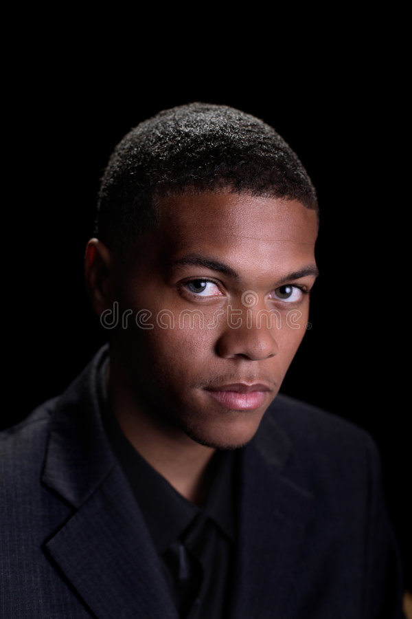 Mâle d'Afro-américain photo stock
