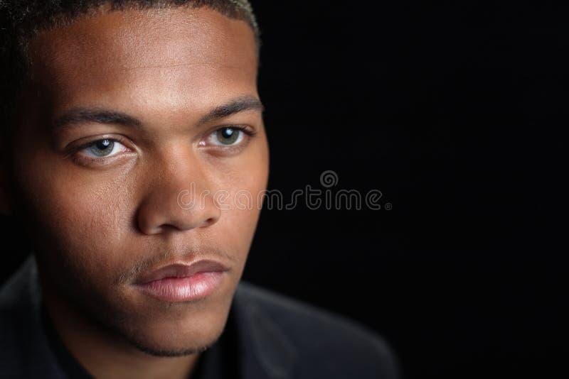 Mâle d'Afro-américain photographie stock