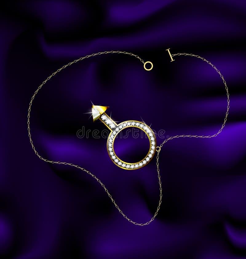 Mâle de bracelet illustration stock