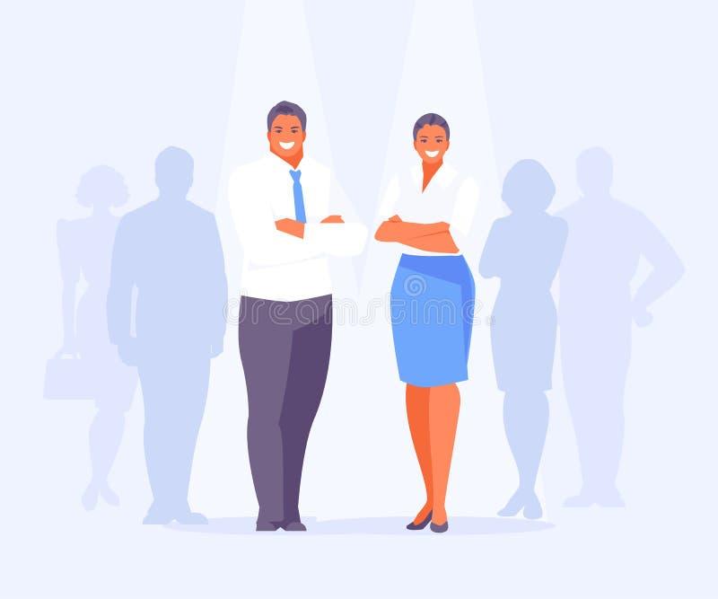 Mâle de candidats et vecteur femelle illustration stock
