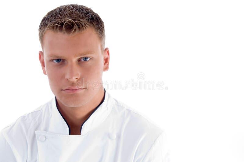 mâle de cuisinier sérieux images libres de droits
