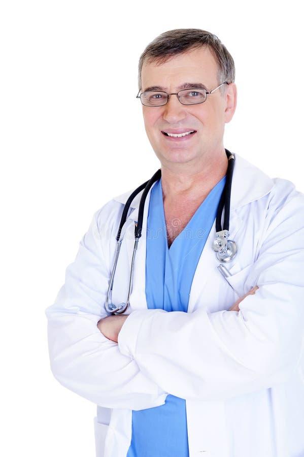 mâle de lunettes de docteur réussi photos libres de droits