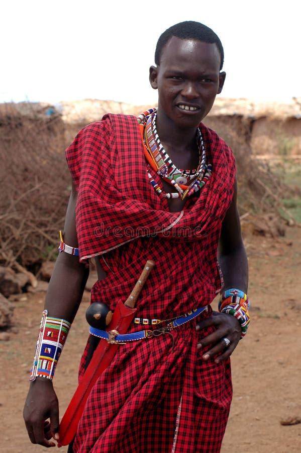 Mâle de masai image libre de droits
