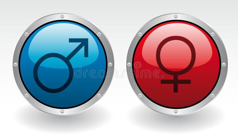 Mâle et femelle illustration libre de droits