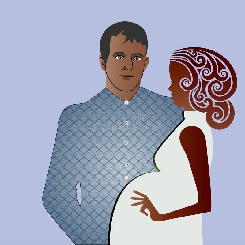 Mâle et femelle de grossesse illustration libre de droits