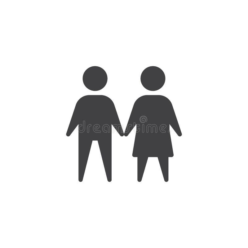 Mâle et icône femelle de vecteur illustration libre de droits