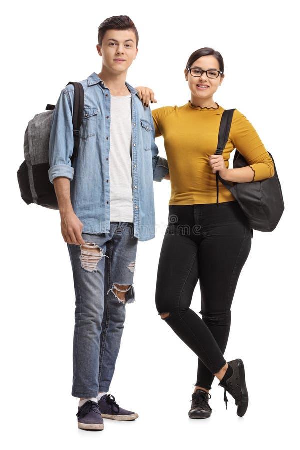 Mâle et un étudiant adolescent féminin photos stock