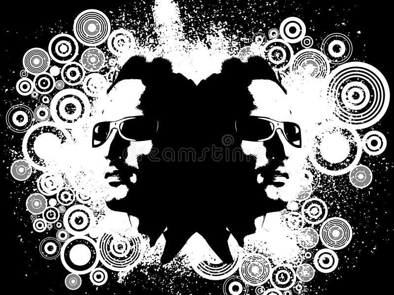 Mâle grunge illustration de vecteur