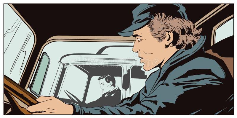 Mâles à la roue des camions illustration stock