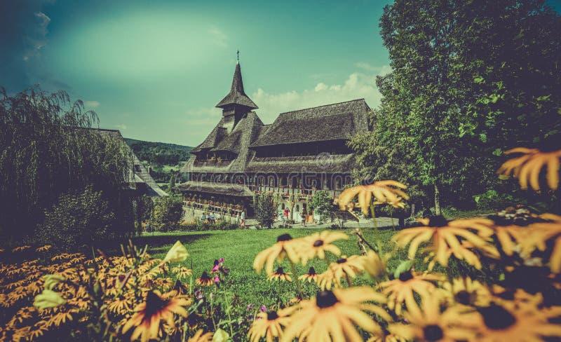 Mânăstirea Bârsana -修道院在罗马尼亚 库存照片