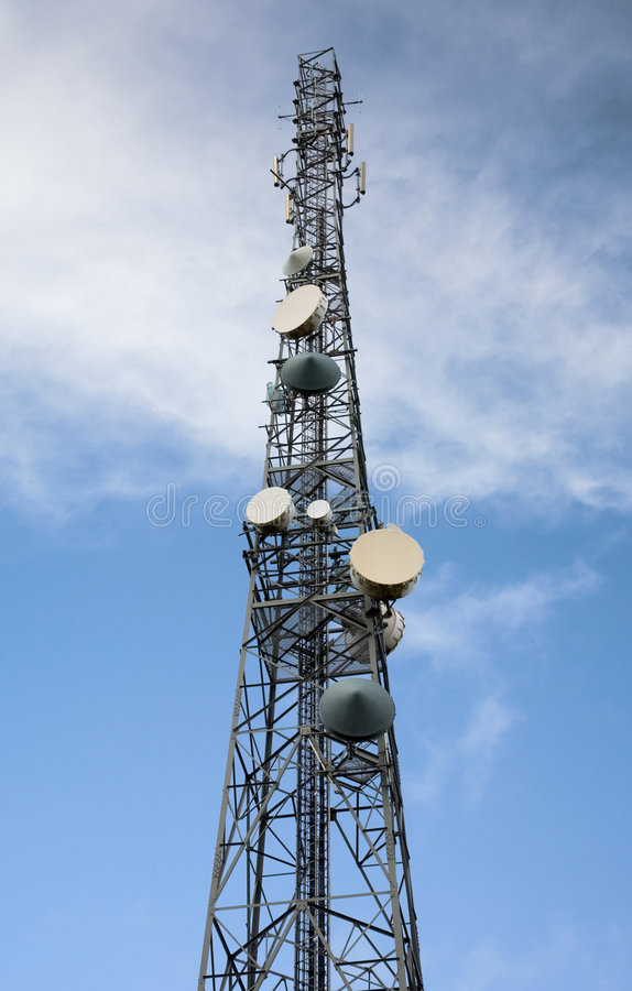 Mât d'antenne par radio photo stock