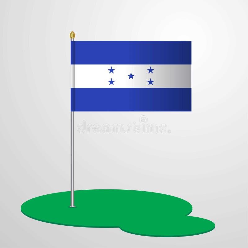Mât de drapeau du Honduras illustration de vecteur