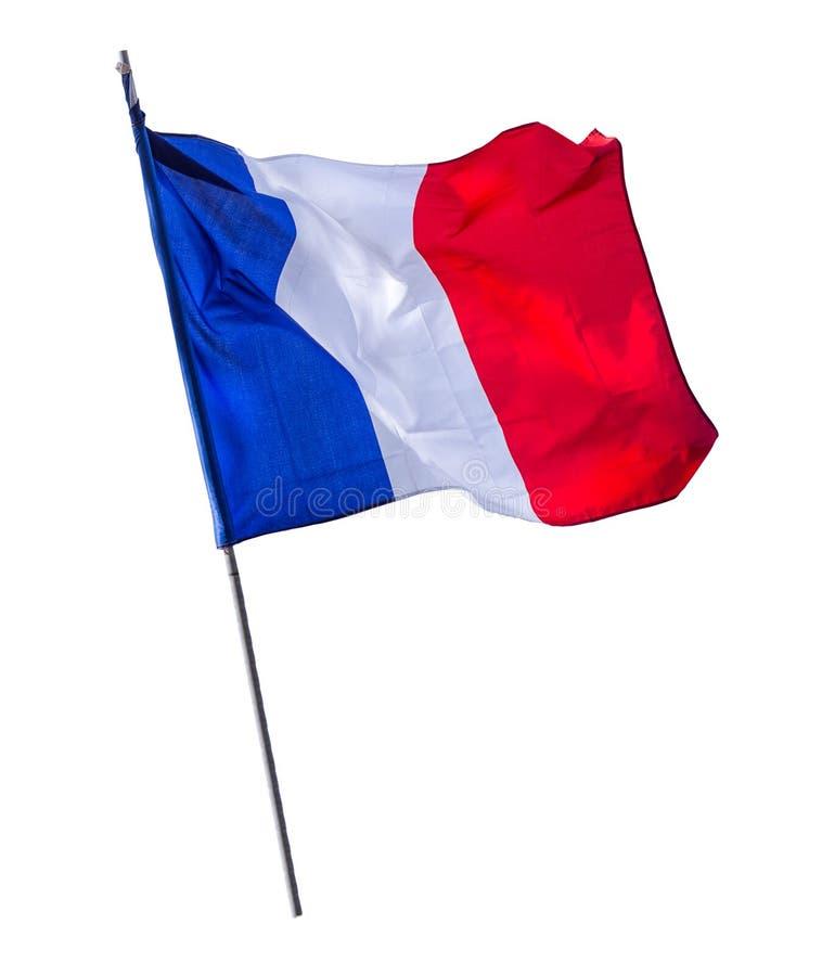 Mât de drapeau français d'isolement images libres de droits