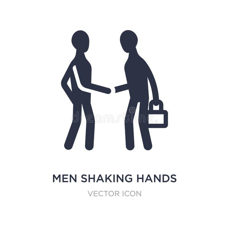 Männer, die Handikone auf weißem Hintergrund rütteln Einfache Elementillustration vom Geschäftskonzept stock abbildung