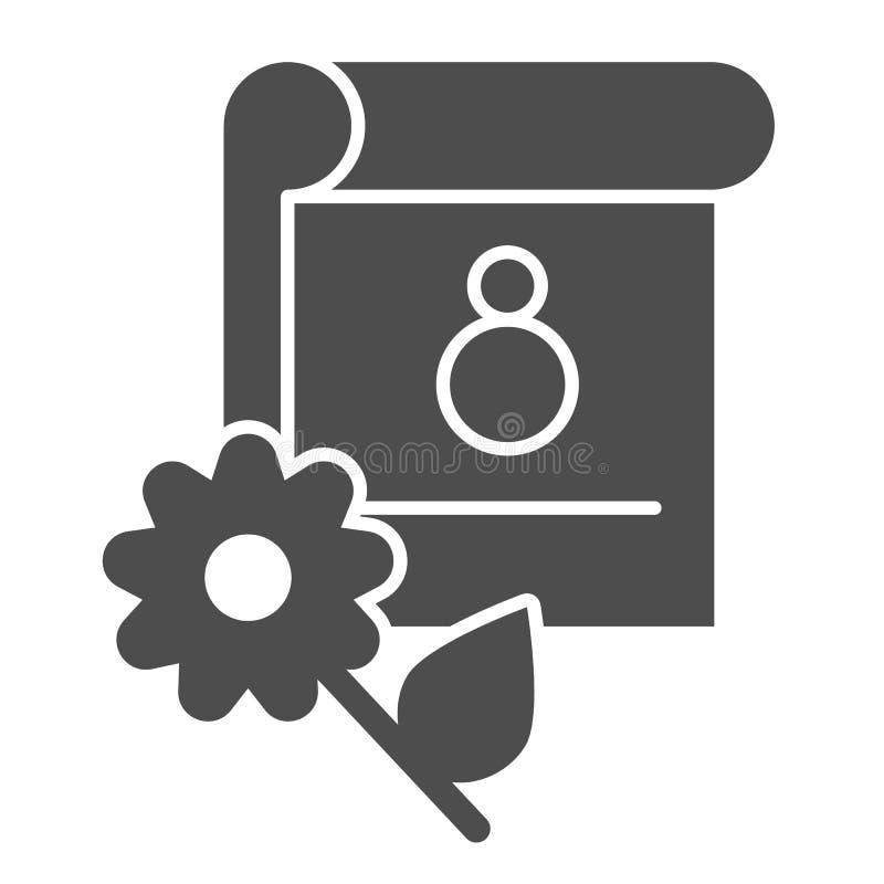 8. März feste Ikone des Kalenders Feiertagsdatums-Vektorillustration lokalisiert auf Weiß Monat Glyph-Artentwurf, entworfen für vektor abbildung