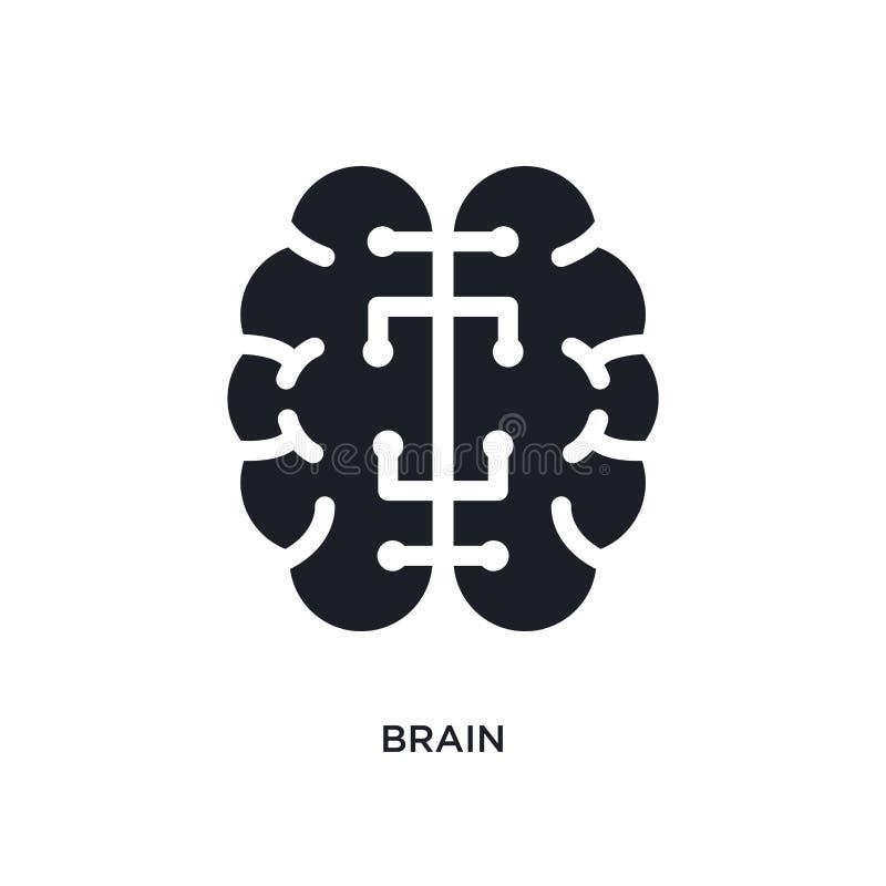 mózg odosobniona ikona prosta element ilustracja od sztucznej inteligencji pojęcia ikon móżdżkowy editable logo znaka symbol ilustracji