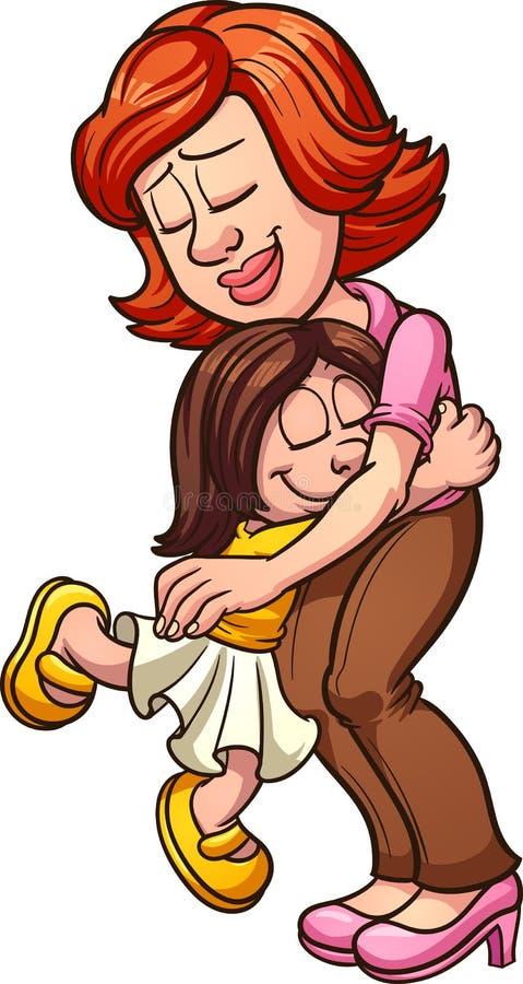 Mãe e filha ilustração do vetor