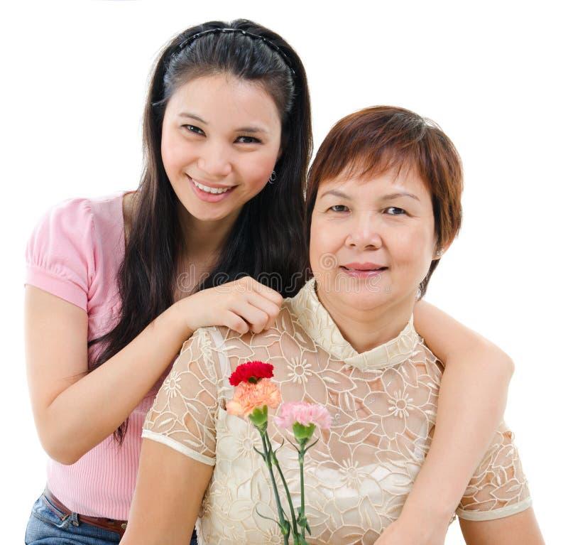 Mãe e filha no dia da mãe imagem de stock