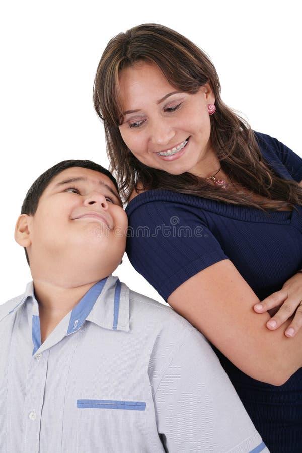 Mãe feliz com o filho fotos de stock royalty free