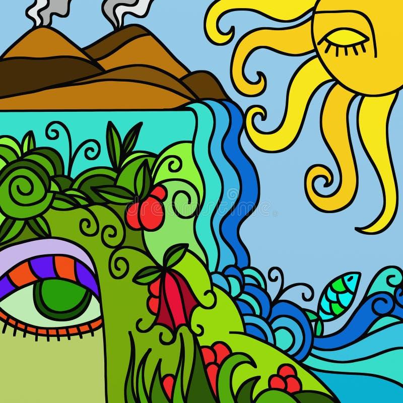 Mãe Natureza ilustração do vetor
