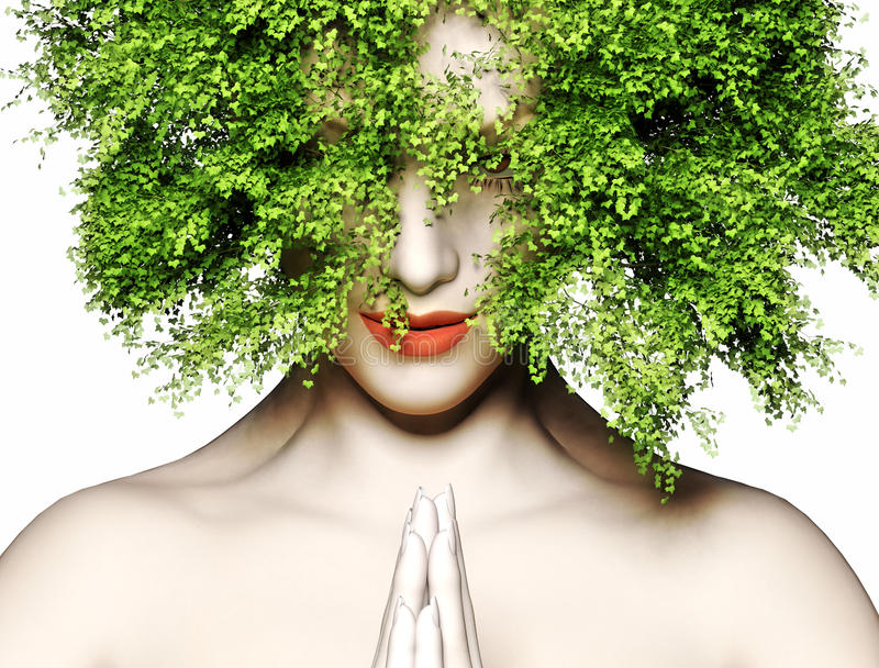 Mãe Natureza ilustração royalty free