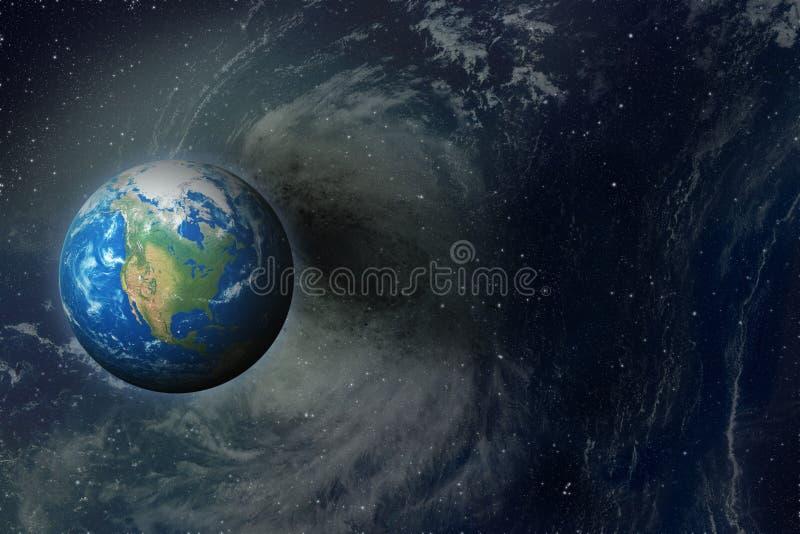 A Mãe Terra no espaço ilustração stock