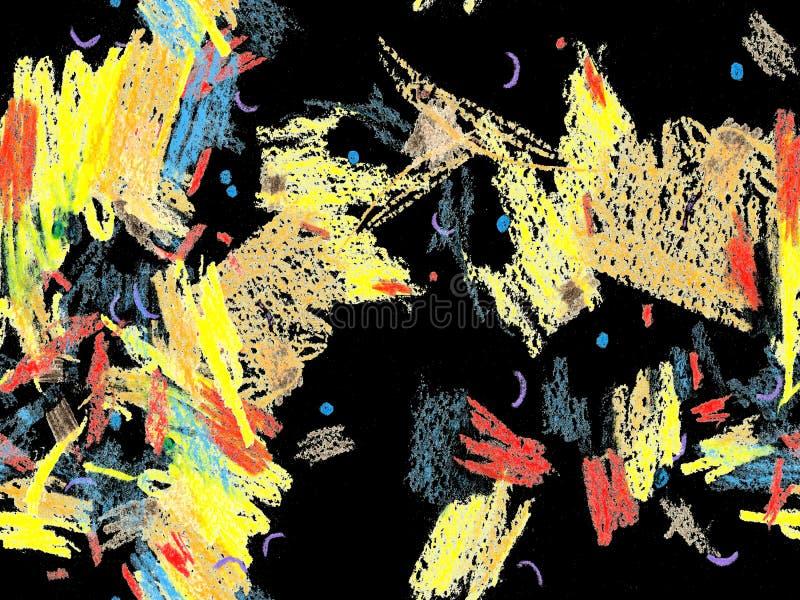 Mão étnica encabeçamento tirado ilustração do vetor