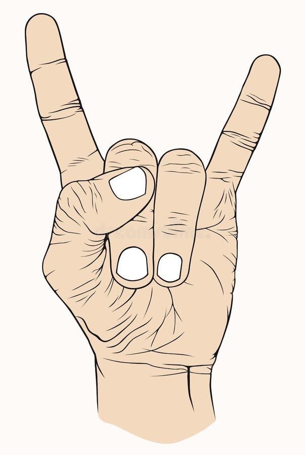 Mão ilustração stock
