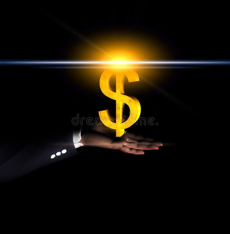 Mão 40 do dólar ilustração stock