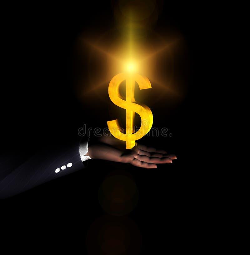 Mão 49 do dólar ilustração royalty free