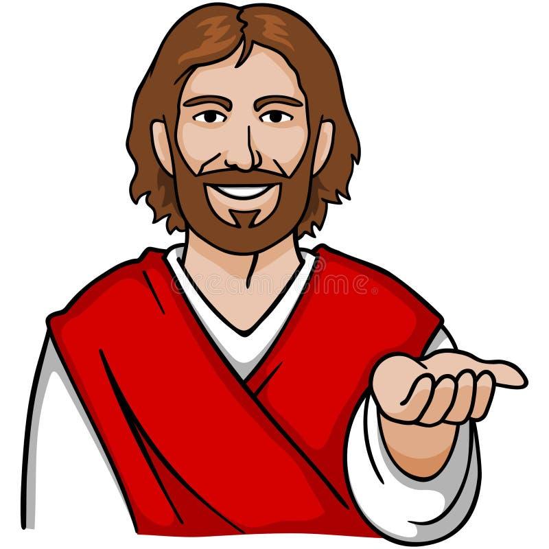 Mão aberta de Jesus ilustração do vetor