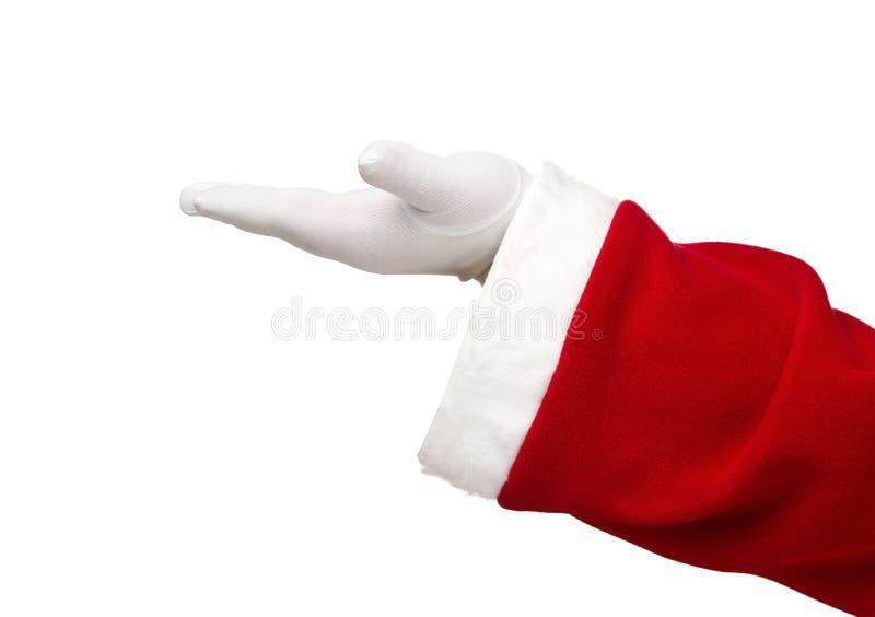 Mão aberta de Papai Noel imagem de stock