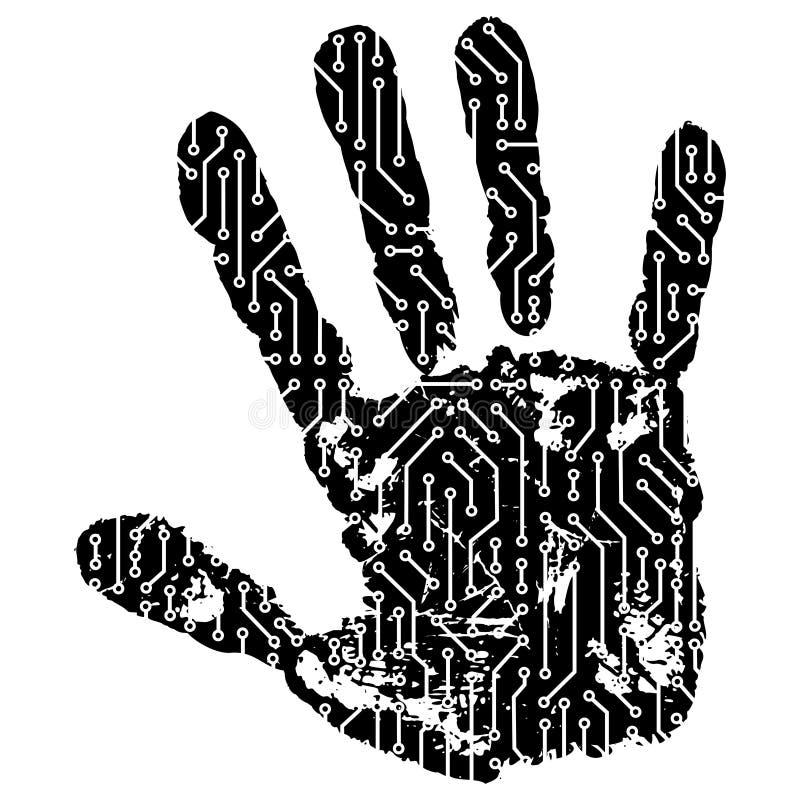Mão abstrata ilustração do vetor