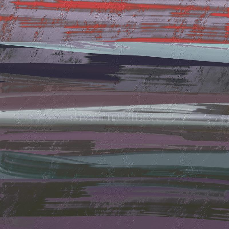 Mão abstrata arte finala pintada tirada dos cursos da escova da tinta O dry ink salpicou a superfície suja Projeto criativo mesmo ilustração do vetor