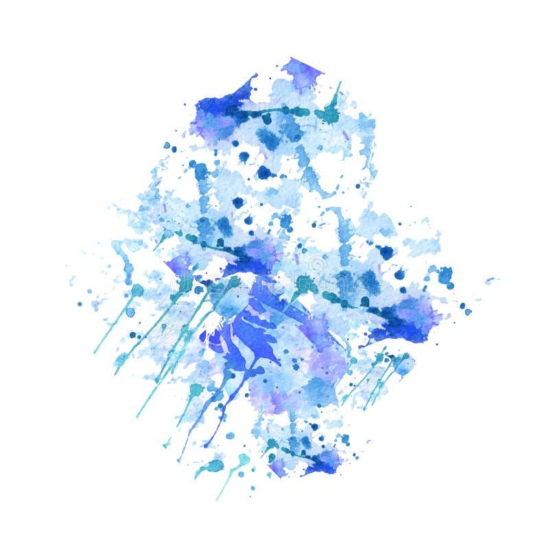 Mão abstrata fundo desenhado da aguarela Ilustração do vetor Textura do Grunge para cartões e projeto dos insetos mancha isolada  ilustração stock
