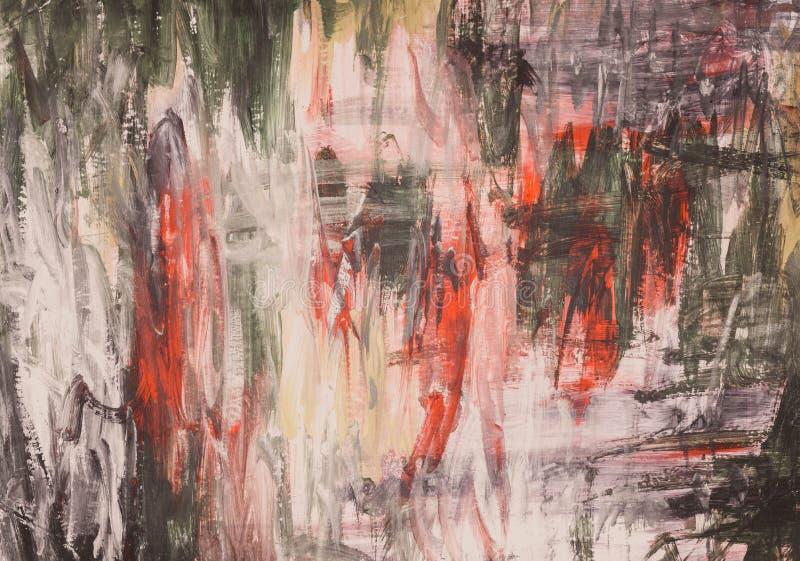 Mão abstrata fundo pintado da aguarela ilustração do vetor
