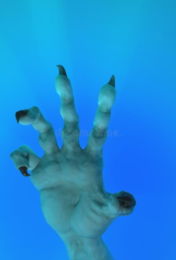 Mão agarrada, Underwater ilustração royalty free