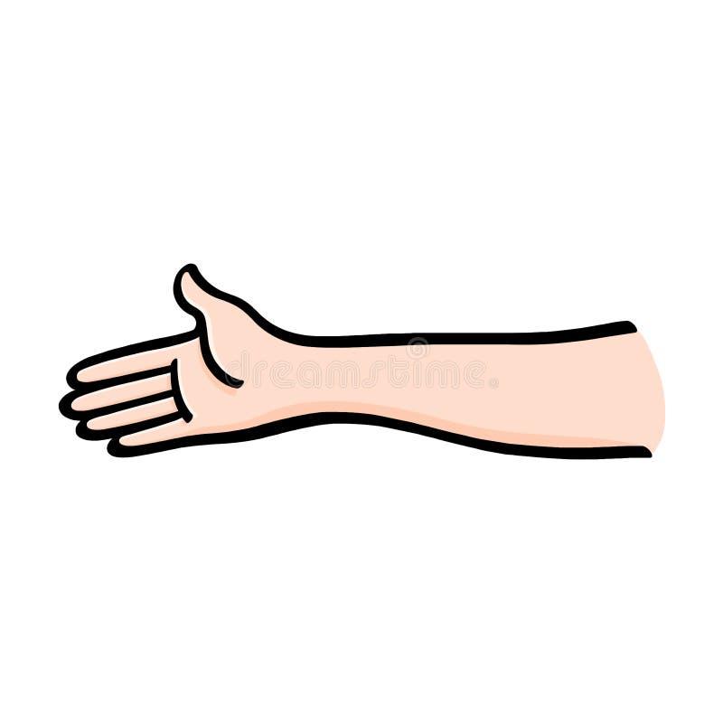 A mão alcança para fora para agitar a ilustração ilustração royalty free