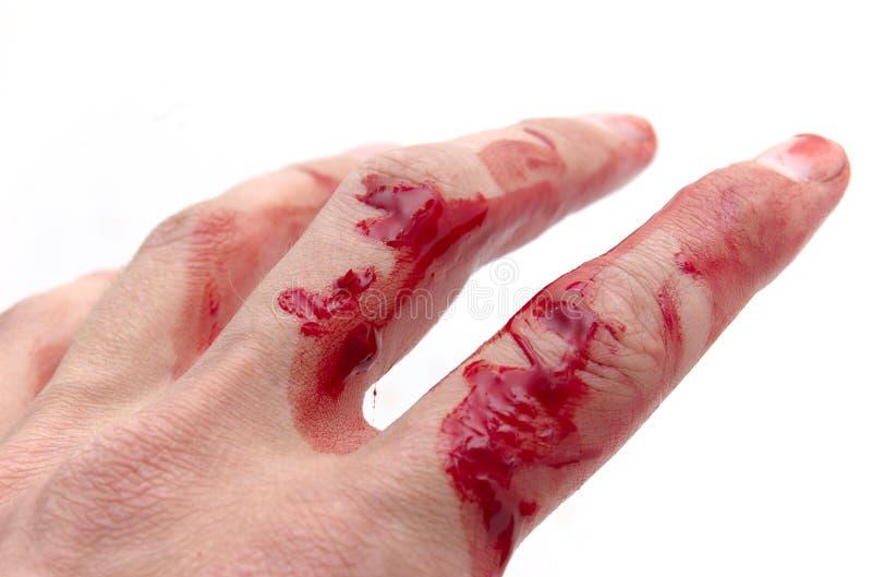 Mão & sangue fotos de stock