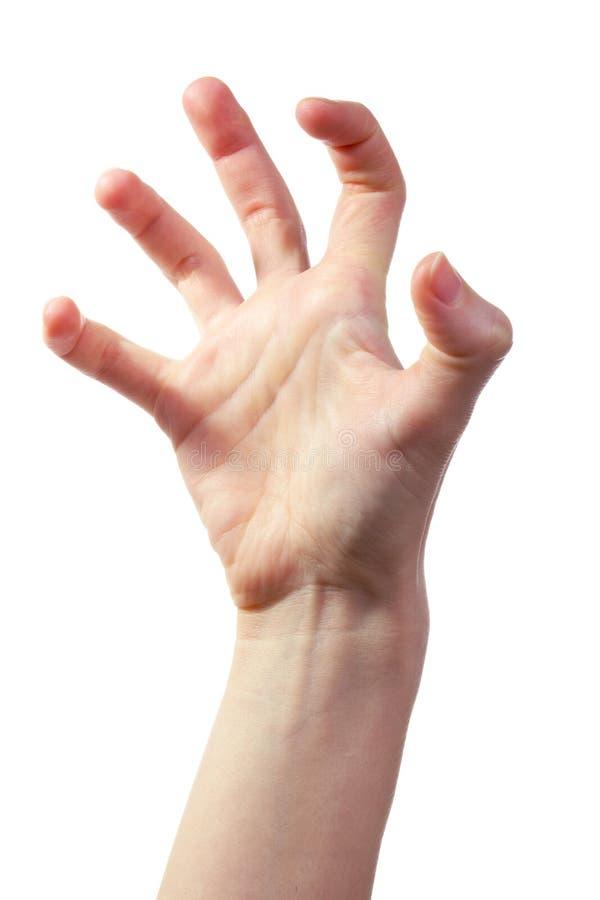 Mão assustador imagens de stock