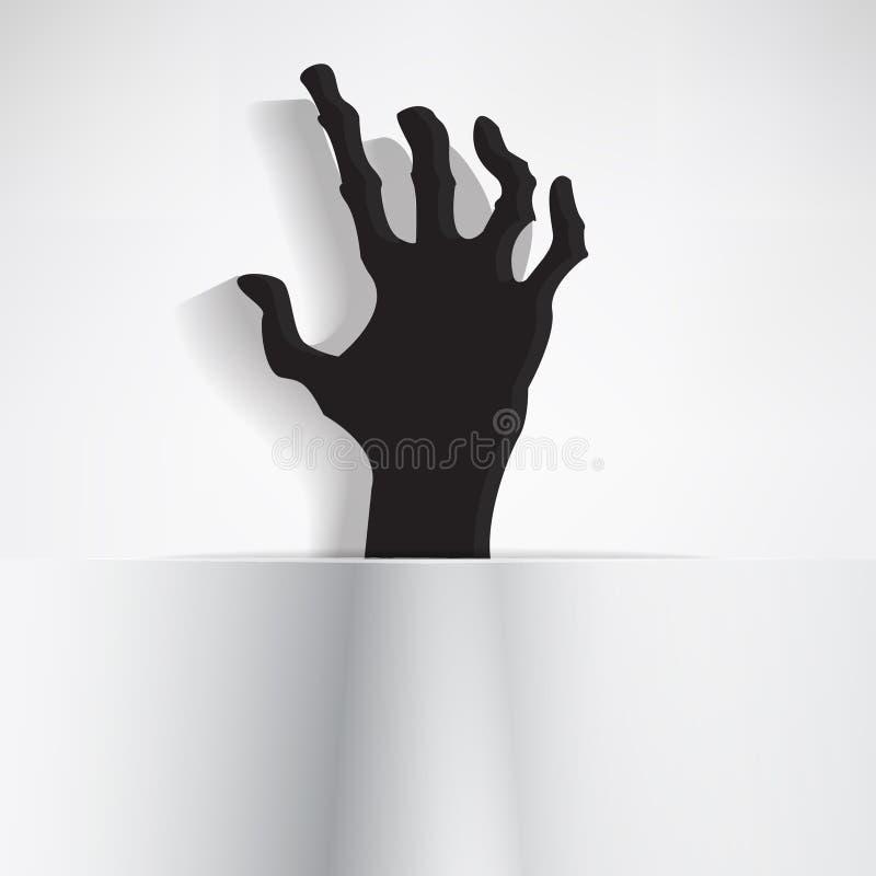 Mão assustador ilustração royalty free
