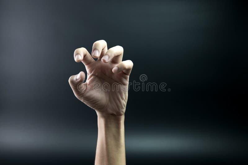 Mão assustador fotos de stock
