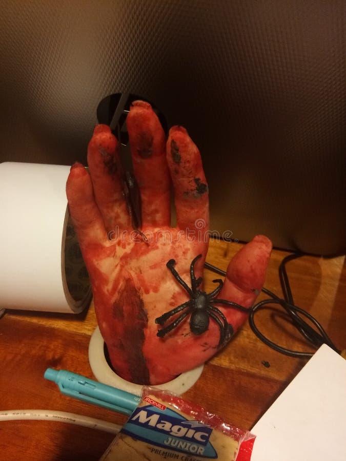 A mão assustador diz olá! imagens de stock royalty free