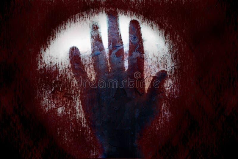 Mão assustador do sangue foto de stock