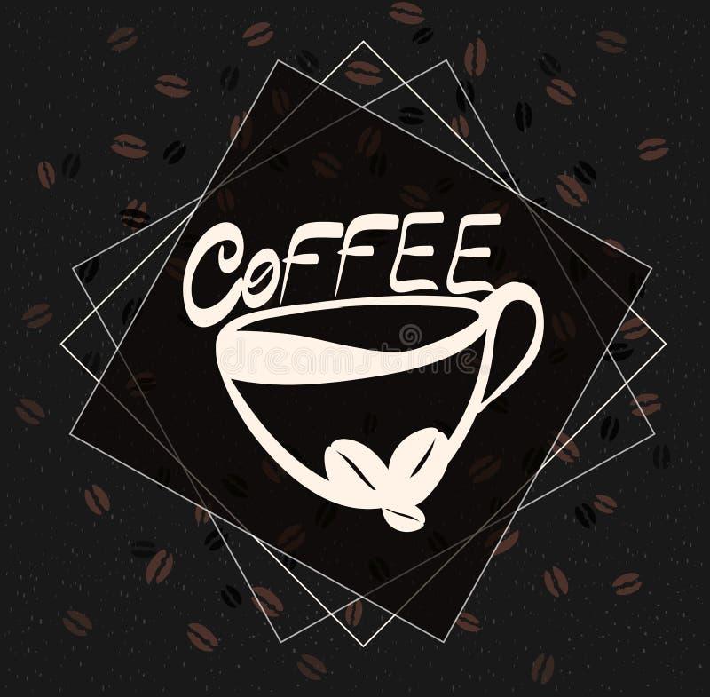 Mão bonita ilustração gráfica tirada da forma: xícara de café ilustração do vetor