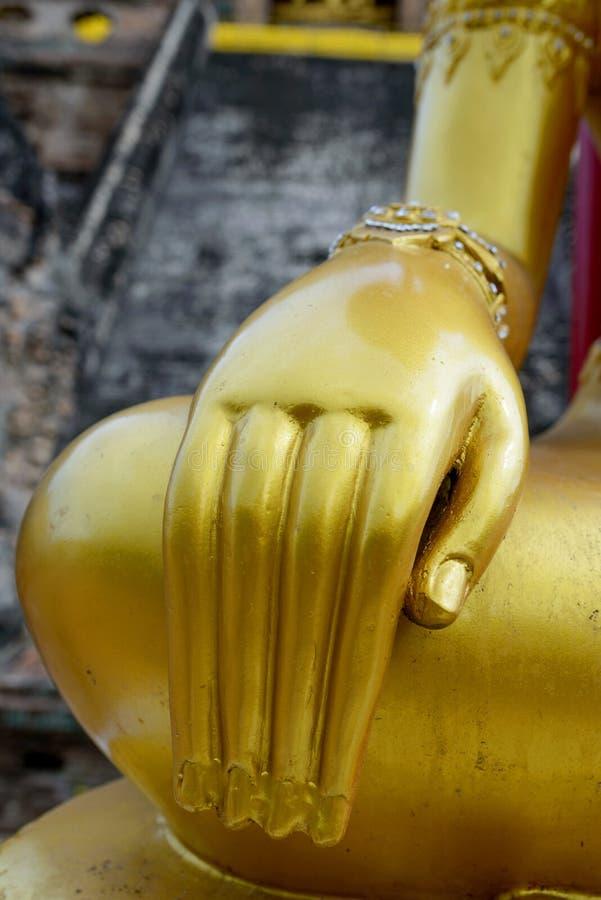 Mão budista da estátua imagem de stock royalty free
