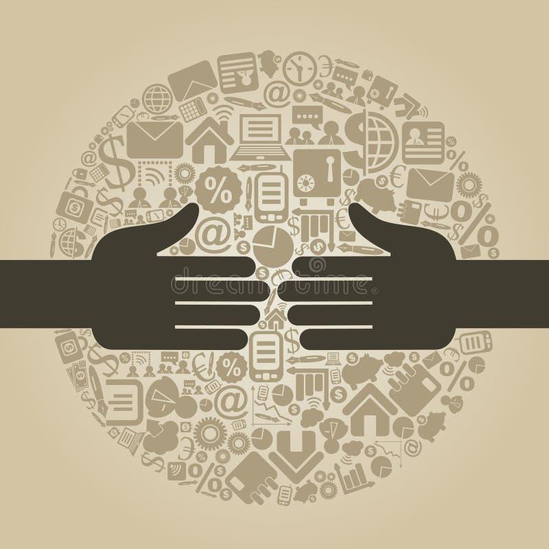 Mão business4 ilustração stock
